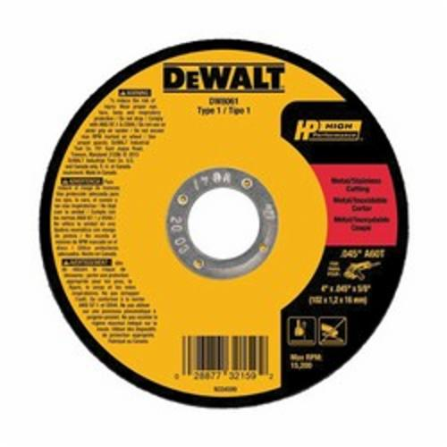 DW8061 Flat High Performance Type 1 Cut-Off Wheel