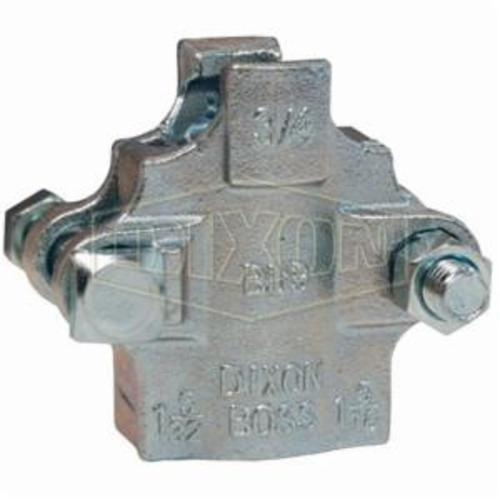 2-Bolt Clamp, 1-20/64 to 1-32/64 in Hose, Iron Band