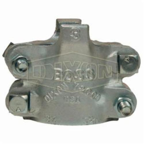 4-Bolt Clamp, 3-6/64 to 3-28/64 in Hose, Iron Band, Domestic