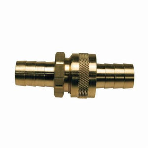 BGH74 Short Shank Coupling With Round Nut, 1/2 in x 3/4-11-1/2, Hose Barb x GHT, 2.95 in