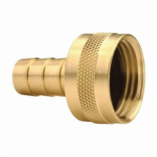 BGHF76 Short Shank Coupling With Round Nut, 3/4 in x 3/4-11-1/2, Hose Barb x FGHT, 1.63 in