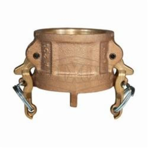 Boss-LockType H Cam and Groove Dust Cap, 6 in, Brass, Domestic