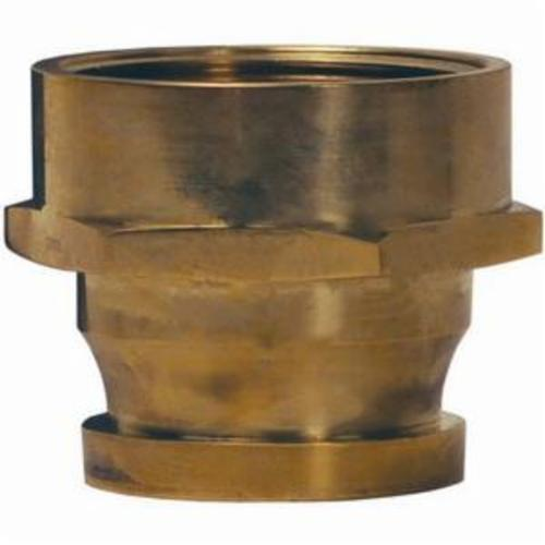 The Right Connection BIA250S Fire Hose Adapter, 2-1/2 in, MBRIT x FNPSH, Brass, Domestic