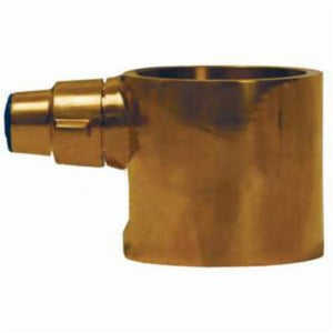 The Right Connection BID250B Fire Hose Adapter, 2-1/2 in, FBRIT x FBSP, Brass, Domestic