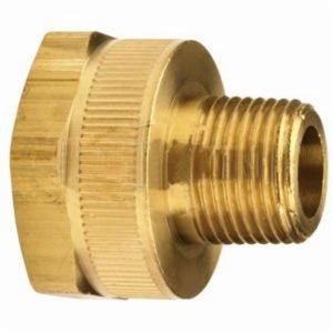 Dixon®The Right Connection BMA Garden Hose Adapter, 3/4-11-1/2 x 3/8 in, FGHT x MNPTF, CDA 360 Brass