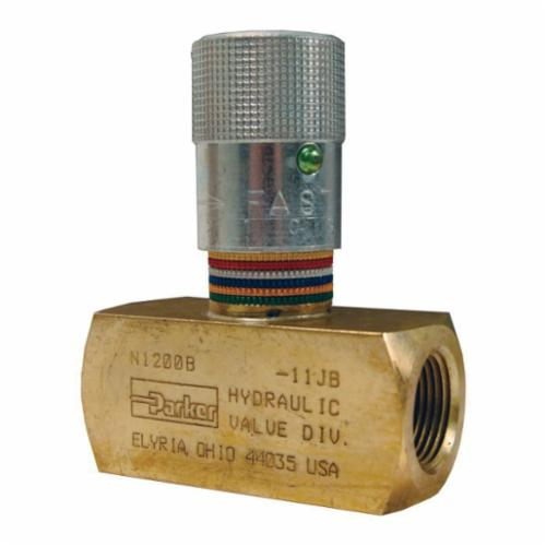 N Series Flow Control Valve, 1/8 x 1/8 in, 2000 psi, Brass