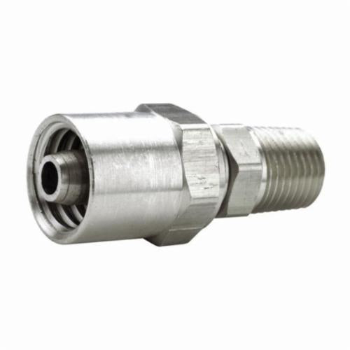 BN44RU87SS Reusable Hose Fitting, 1/2 in, Hose ID x MNPTF, 303 Stainless Steel