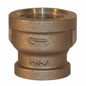 BR2015B Threaded Bell Reducer, Reducer, 2 x 1-1/2 in, FNPT, 125 lb, Brass