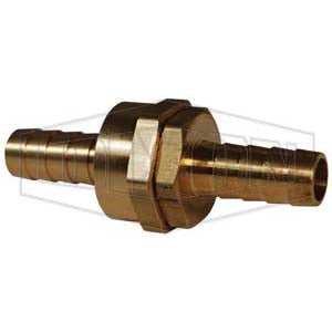 BS406 Machined Short Shank Coupling, 3/4 x 1/2 in, NPSM x Hose, 3-11/32 in L, Domestic