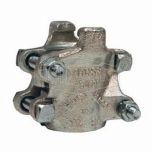 4-Bolt Clamp, 1 in ID x 1-34/64 to 1-46/64 in OD, Iron Band, Domestic