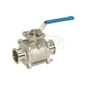 BV2CV-250CC-A 2-Way Encapsulated Sanitary Ball Valve, 2-1/2 in Clamp, Stainless Steel, Domestic