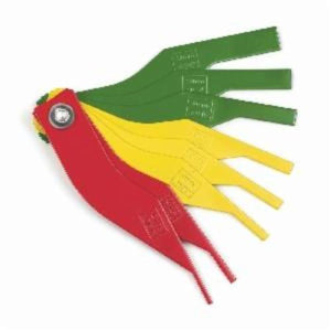 GearWrench 3962 Metric/SAE Brake Lining Thickness Gauge, For Use With 41520 Brake Service Set, Steel