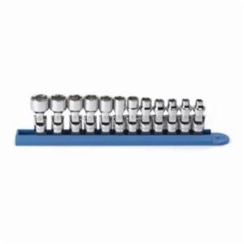 GearWrench 80311 Flex Standard Length Socket Set, Metric, 12 Pieces, 1/4 in Drive, 6 Point