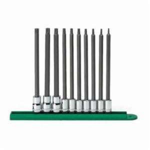 GearWrench Professional Socket Bit Set, Imperial, 10 Pieces, 1/4 in, 3/8 in Drive, Carbon Steel Forged