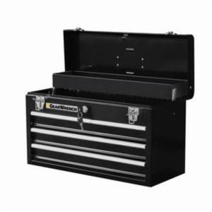 GearWrench 83151 Portable Tool Box With Ball Bearing Drawer Slides, 12 in H x 20 in W x 8-1/2 in D, Steel