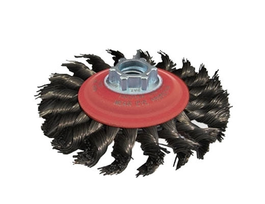 "44252 Jaz USA Stringer Bead Knot Wire Wheel,7"",56 Knots,.020"",Steel"