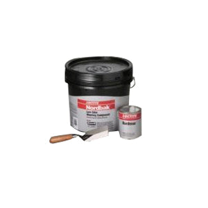 Nordbak 41343 9331 2-Part Low Odor Wearing Compound, 25 lb, Paste, Gray, 8.75 sq-ft, 7 hr Curing
