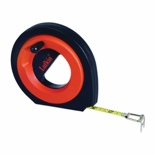 Lufkin 50 High Visibility Tape Measure, 3/8 in W x 50 ft L Blade, Steel, Imperial, 1/8ths