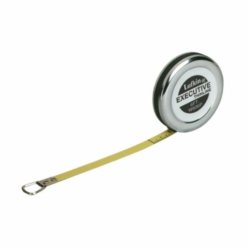 Lufkin Executive Pocket Tape Measure, 1/4 in W x 6 ft L Blade, Steel, Imperial, 1/64ths