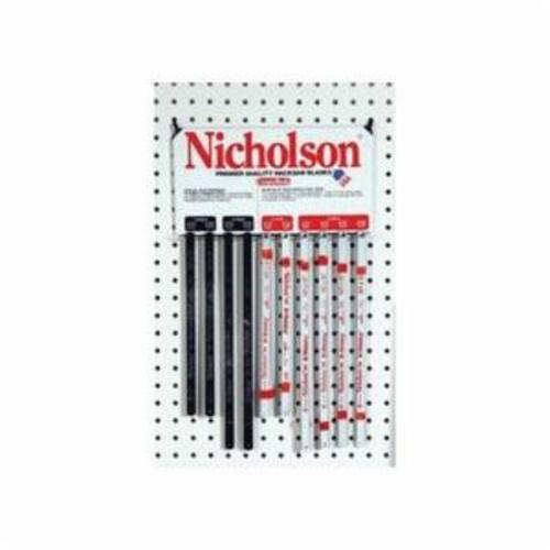 Nicholson 63158 Economy Solid Flexible Shatterproof Hacksaw Blade, 1/2 in W x 12 in L Blade, Carbon Steel Cutting Edge