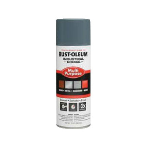 1600 System Multi-Purpose Solvent Base Spray Paint, 12 oz, Aerosolized Mist, Machine Gray