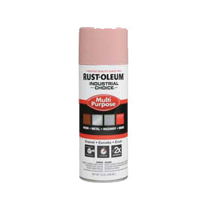 1600 System Multi-Purpose Solvent Base Spray Paint, 12 oz, Aerosolized Mist, Dusty Pink, 12 to 15 sq-ft/can