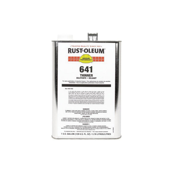 641 System High Performance Paint Thinner, 1 gal, Liquid