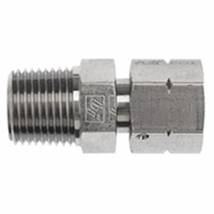 1404 Straight Brand Name, 1/8 in x 1/8-27, Male NTPF x Female NPSM, Steel