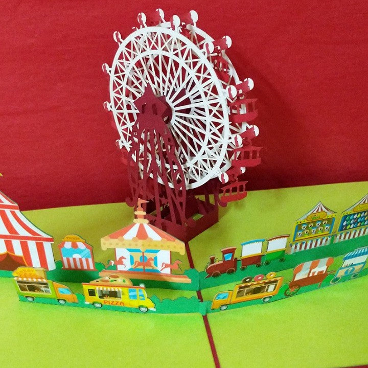 POP UP CARD FERRIS WHEEL