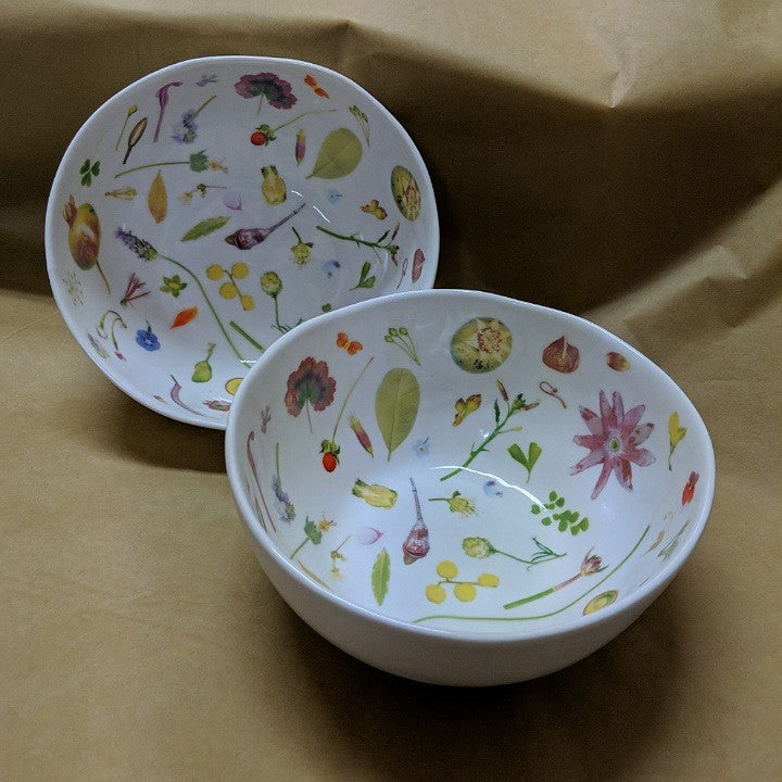 FLORAL FORAGER SIDE BOWL SET TWO
