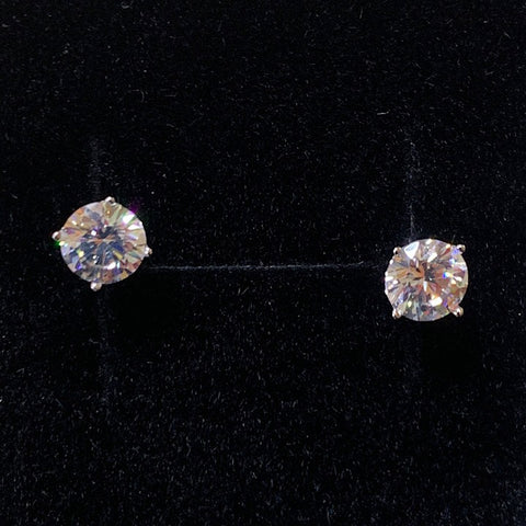 EARRINGS CUBIC ZIRCONIA CLAW STUD