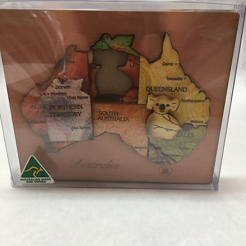 DOUBLE COLOURED MAP PUZZLES
