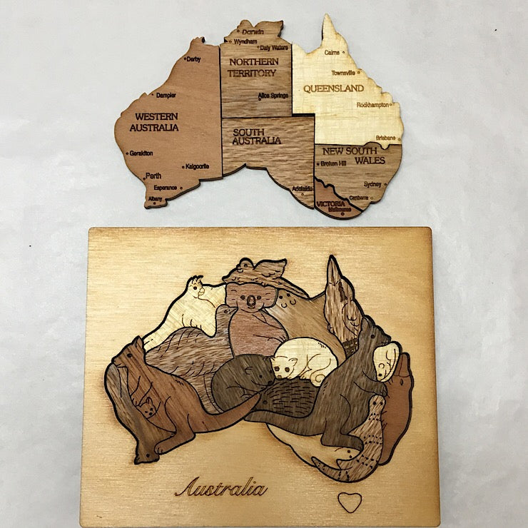 3D PUZZLE ANIMALS IN MAP OF AUSTRALIA