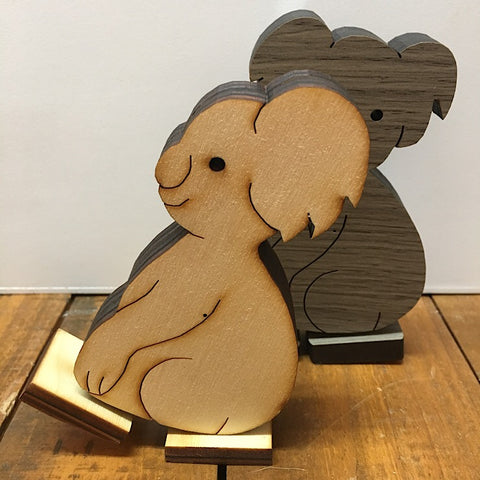 WOODEN KOALA MOVING (SIDE OR FRONT FACING)