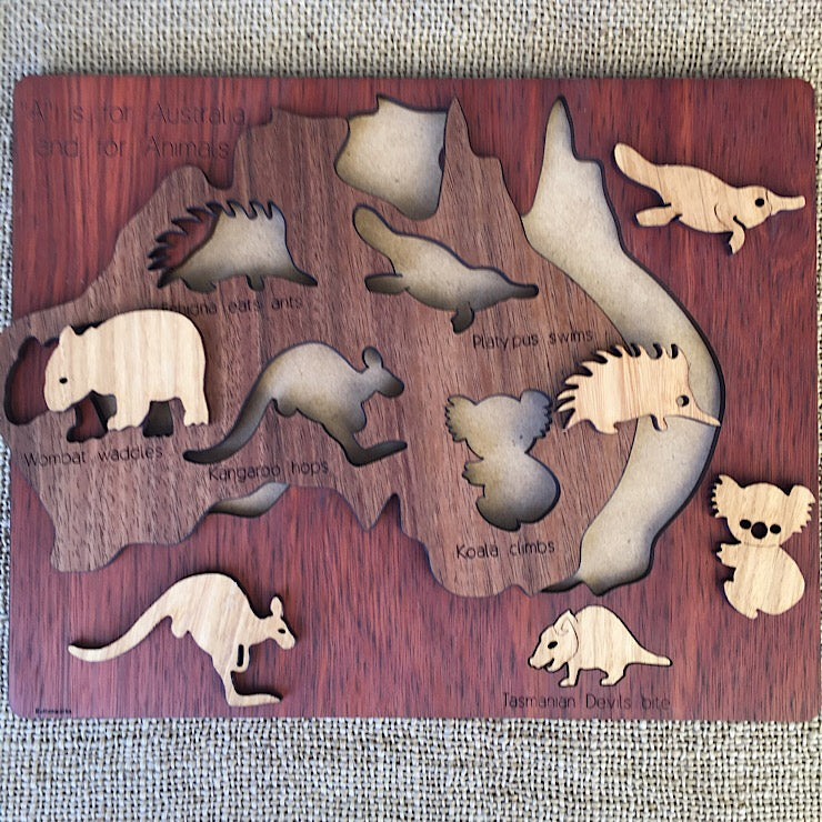 ANIMAL MAP PUZZLE