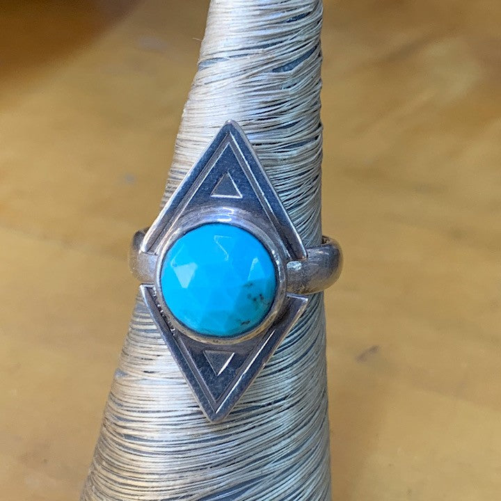 STERLING SILVER RING FEATURING TURQUOISE