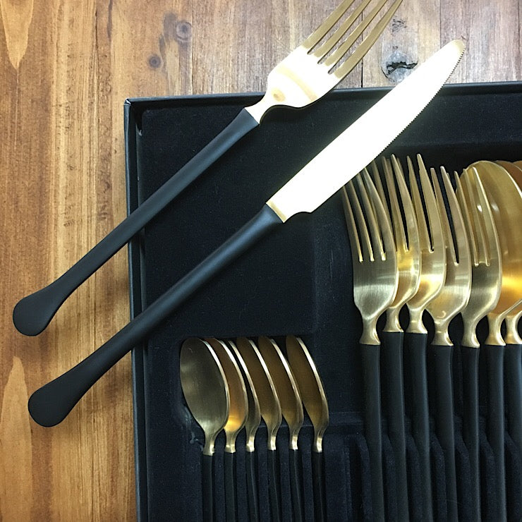 HERDMAR 24 PIECE STAINLESS STEEL CUTLERY SET