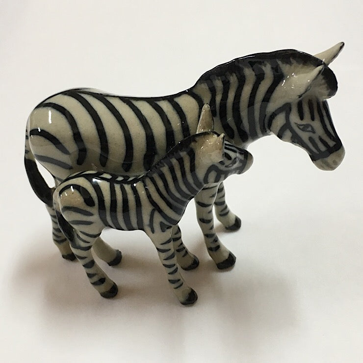 PORCELAIN TRINKET ZEBRA WITH FOAL