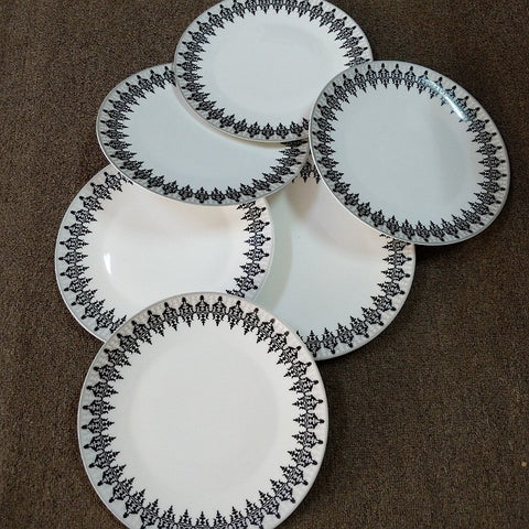 SET SIX CLASSIC DINNER PLATES