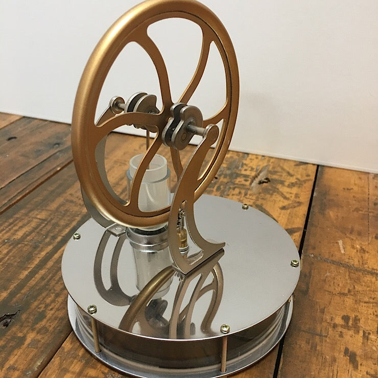 STIRLING ENGINE PORTABLE POWERHOUSE