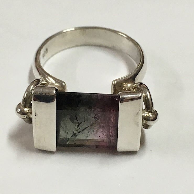 FLUORITE AND STERLING SILVER RING