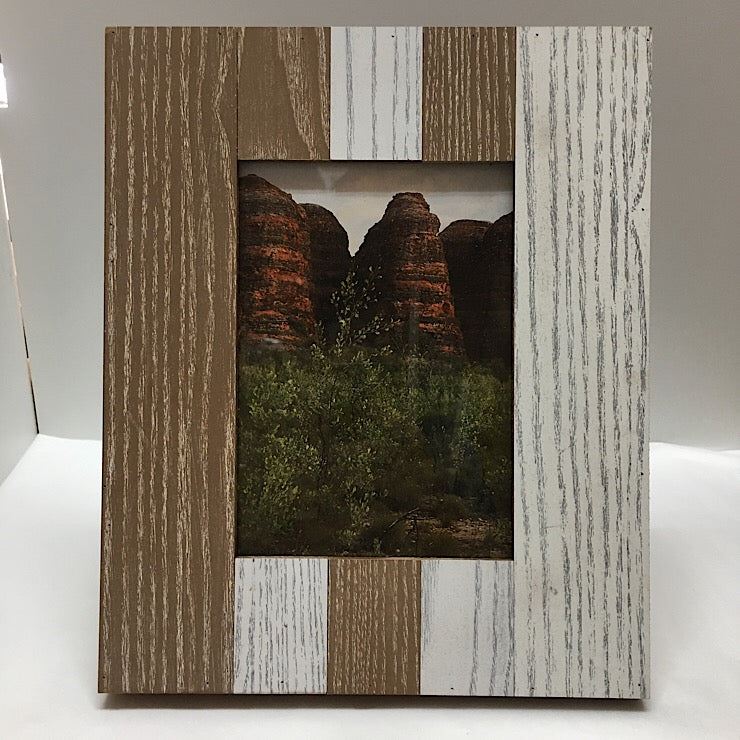 PHOTO FRAME 5 X 7 WHITE TAUPE