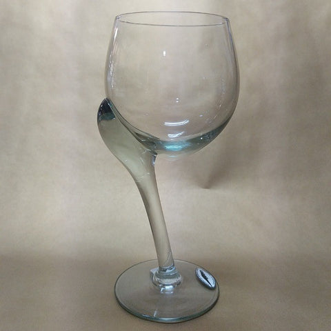 CROOKED STEM WHITE WINE GLASS