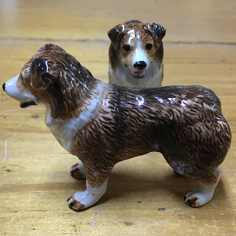 PORCELAIN TRINKET COLLIE DOG