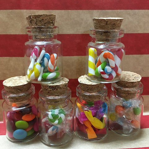 MINI COLOURFUL SWEET JARS SET OF SIX