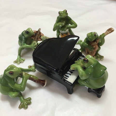 THE FROG BAND PORCELAIN TRINKETS