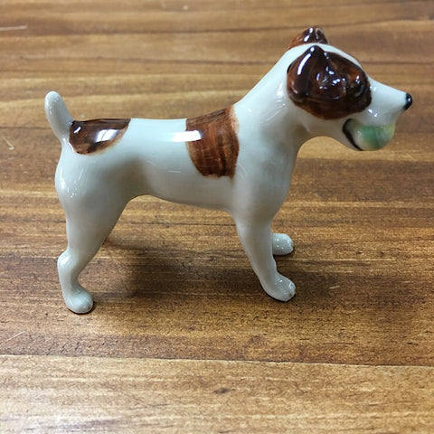 PORCELAIN TRINKET JACK RUSSELL WITH BALL IN MOUTH