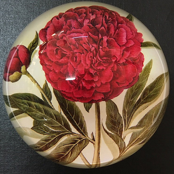 RED PEONY PAPERWEIGHT
