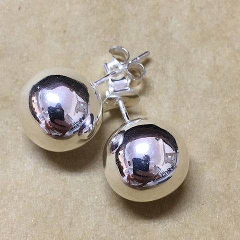 SPHERES OF STERLING SILVER EARRINGS