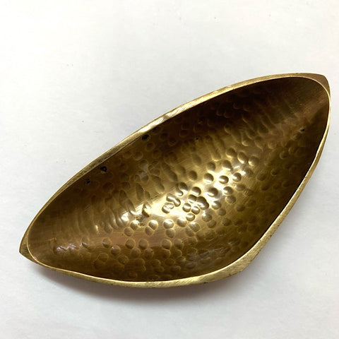 TRIANGULAR BRASS DISH